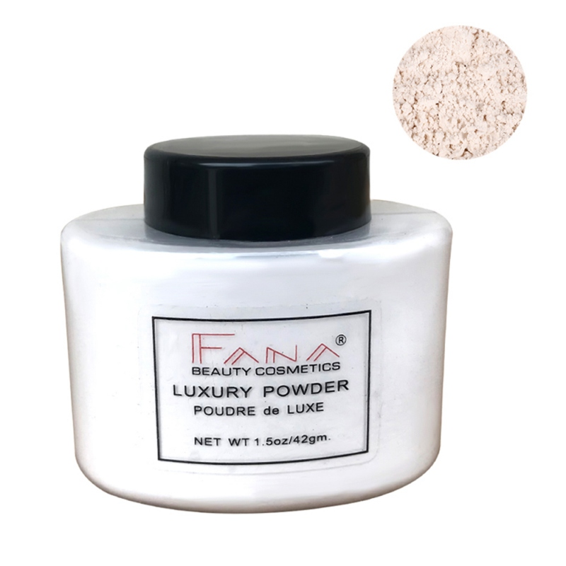 Translucent Mineral Loose Face Powder Oil-Control Brightening Invisible Pores for Makeup Finishing Foundation Setting