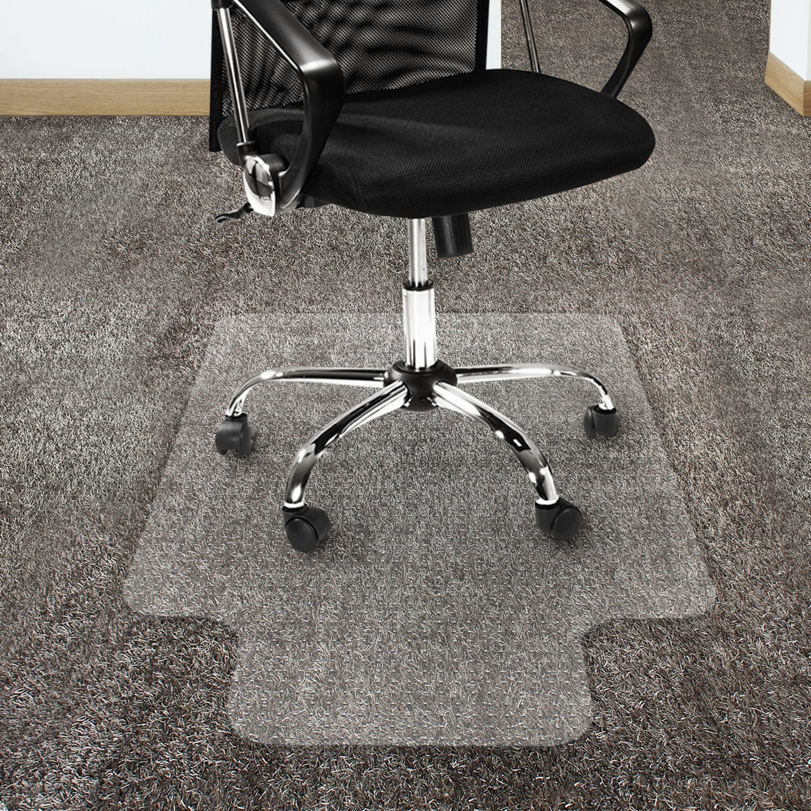 Office Marshal Polycarbonate Chair Mat for High Pile Carpet Floors - Clear Studded Carpet Floor Protection Mat - 36u0027u0027x48u0027u0027 with Lip - Walmart.com : clear polycarbonate chair - Cheerinfomania.Com