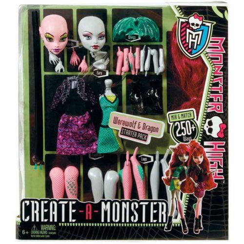 Monster High Create a Monster Werewolf / Dragon Set