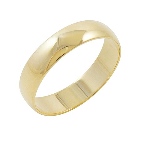Oxford Ivy Men's 10K Yellow Gold 5mm Traditional Plain Wedding Band (Available Ring Sizes 7-12