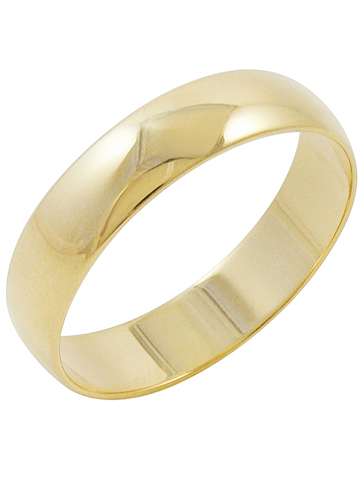 Oxford Ivy Men's 10K Yellow Gold 5mm Traditional Plain Wedding Band (Available Ring Sizes 7-12 1/2)