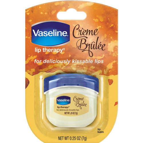 Vaseline Lip Therapy Creme Brulee Lip Balm Mini, 0.25 oz