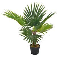 OTVIAP Artificial Plant Palm with Pot Green 27.6""