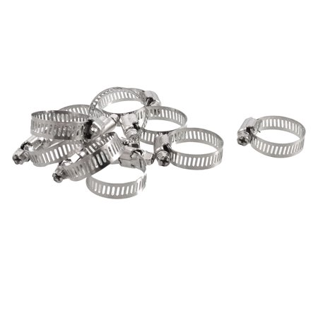 Release Worm (Unique Bargains 10 x Bolt Release 18mm to 29mm Worm Drive Hose Clamps Pipe Hoops)