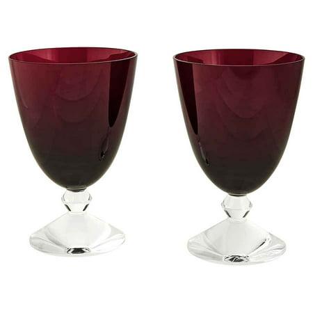 Baccarat Crystal Vega Red Water Glass Pair 2812265