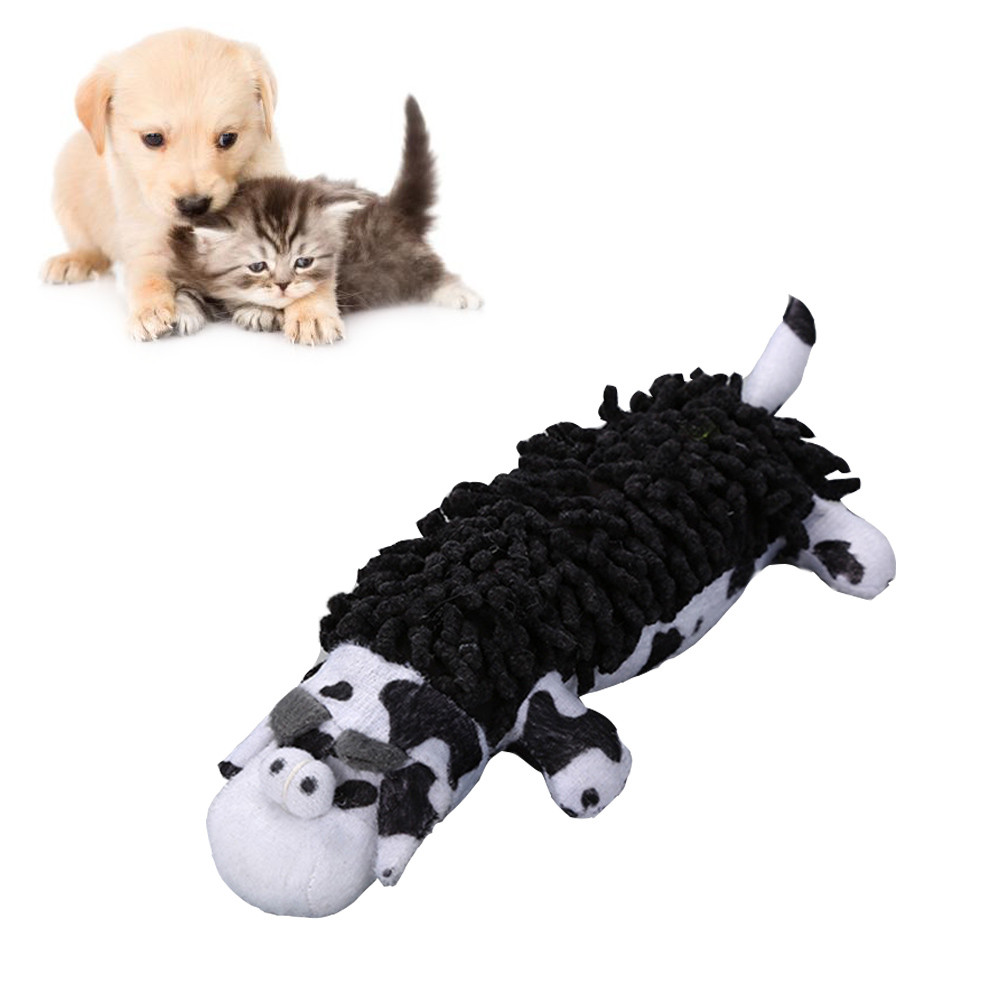 Puppy Chew Squeaker Toy Pet Dog Squeaky Plush Sound Animal Shape Toys