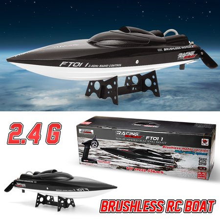 FeiLun FT011 2.4GHz High-Speed Battery Powered Remote Control Electric Racing Water RC Boat Toy 55km/h with US