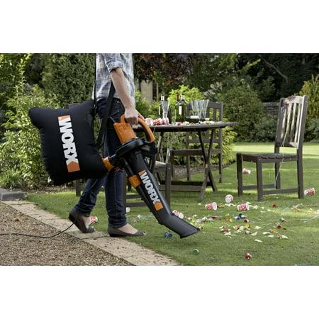 Worx Blower 3 In 1 Vac Mulch W Bag Wg505 Walmart Canada