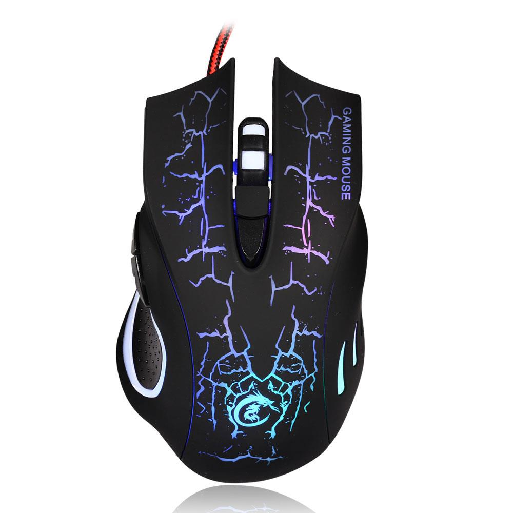 Ktaxon USB 2.0 5500DPI Wired Gaming Mouse Backlight Illuminated Multimedia Mice For PC