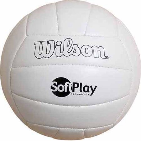 Wilson Official Size Soft-Play Outdoor Volleyball, White ()