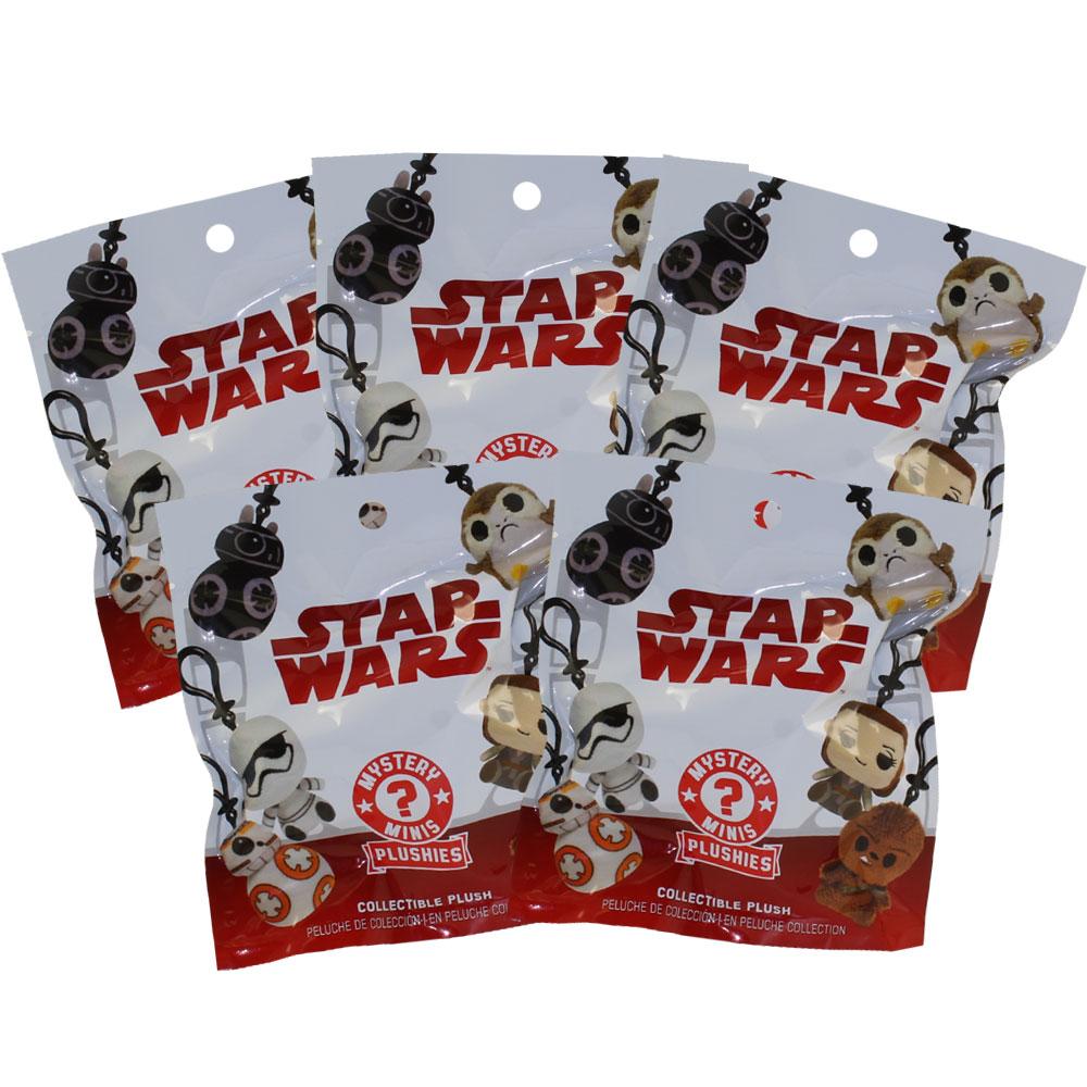 Funko Mystery Mini Plush Clips - Star Wars Episode 8: The Last Jedi - BLIND BAGS (5 Pack Lot)