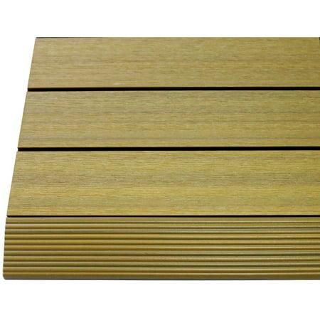 Newtechwood Ultrashield Quickdeck 2 X 1 Composite Deck Tile Straight Trim