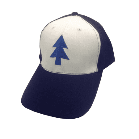 Dipper Pines Tree Hat Gravity Falls Baseball Cap Costume White Blue Pine - Hot Cat Costume