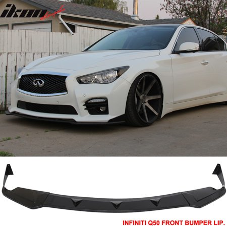 Compatible with 14-17 Infiniti Q50 Q50S Sport Model Front Bumper Lip - ABS
