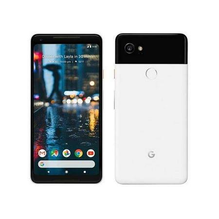 Google Pixel 2 XL Universal Fully Unlocked 64GB Black & White Refurbished