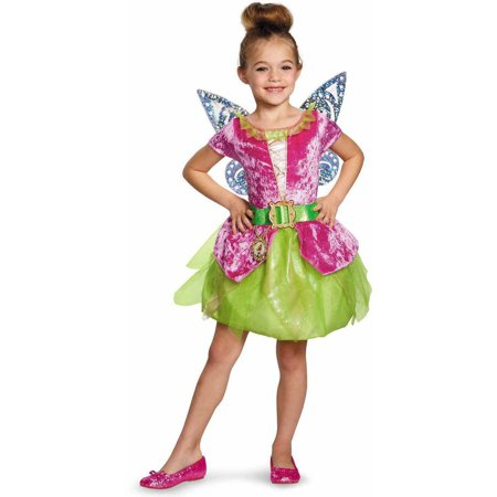 Tinkerbell Sequin Costume (Tinker Bell and The Pirate Fairy Pirate Tink Girls' Child Halloween)