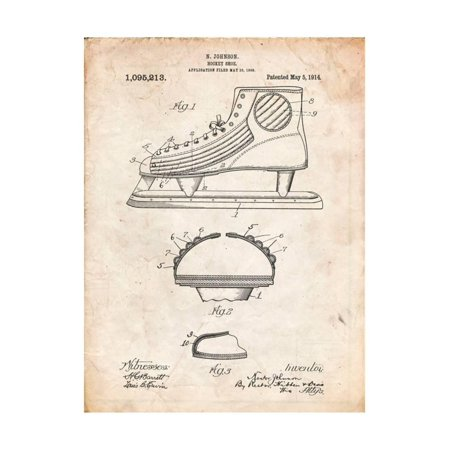 665262ccf2c69 Hockey Shoe Patent Print Wall Art By Cole Borders