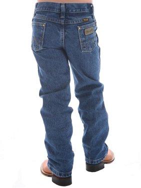 Wrangler Apparel Boys  George Strait Original Cowboy Cut Jeans 3T SLIM Heavy Denim Stone