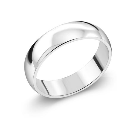 925 Sterling Silver Wedding Band Ring 5mm Wide ()