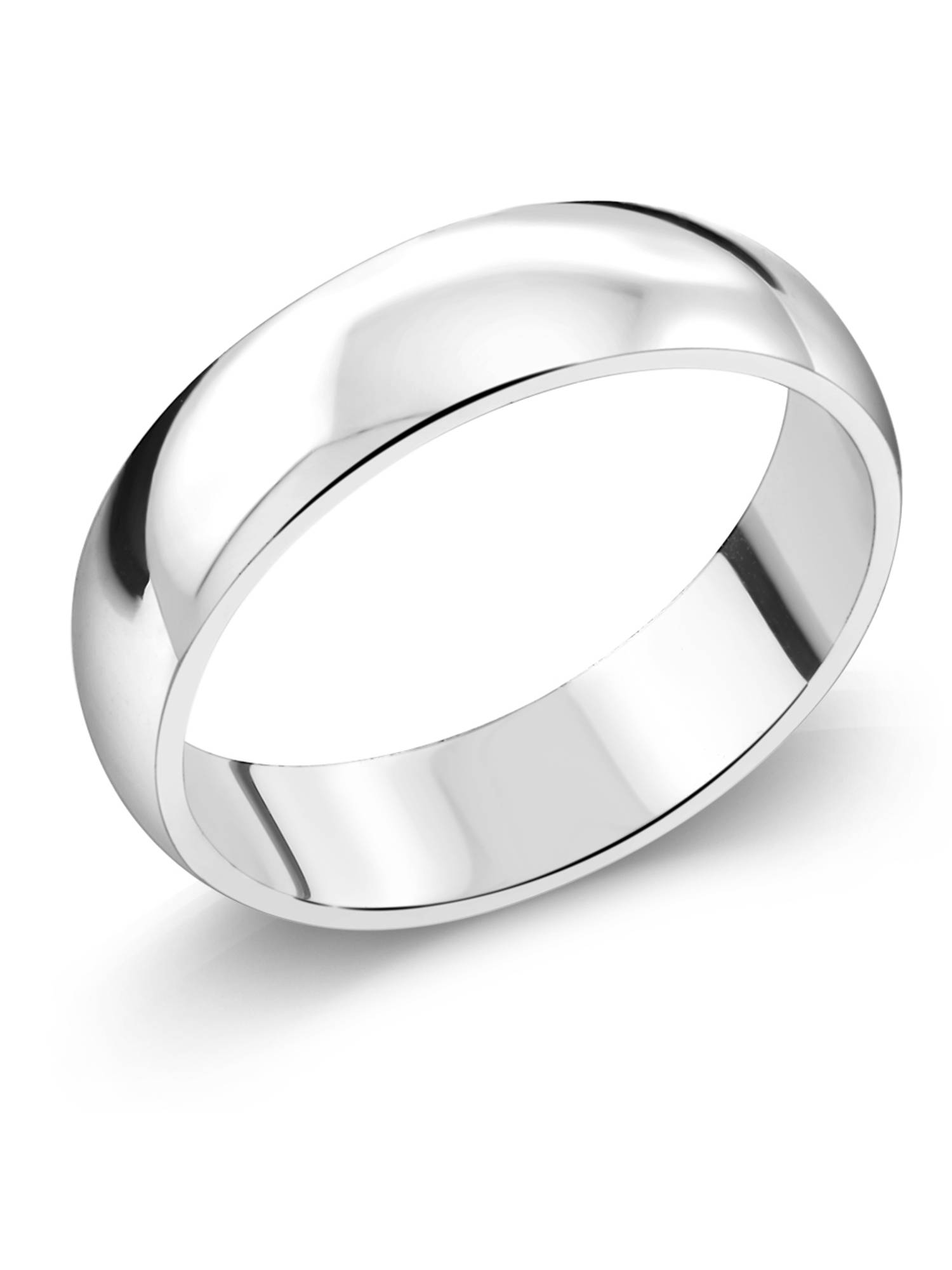 Shiny /& Smooth Ring 925 Silver Ring 8mm Wide Wedding Band
