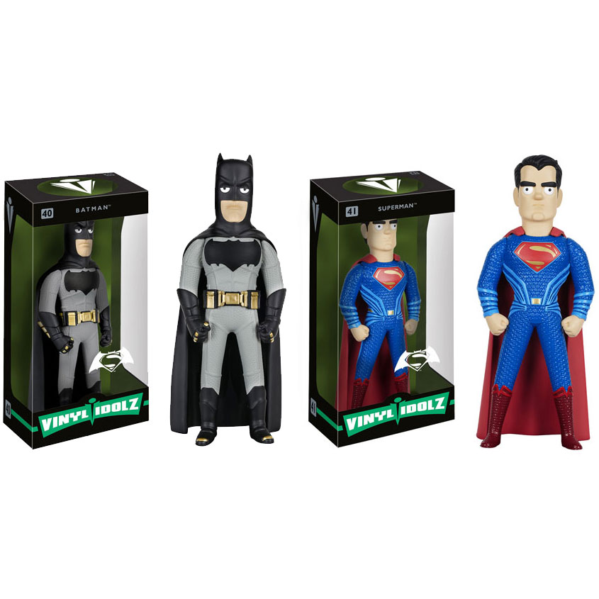 Funko Vinyl Idolz Figures - Batman v Superman - SET OF 2 (Batman & Superman)