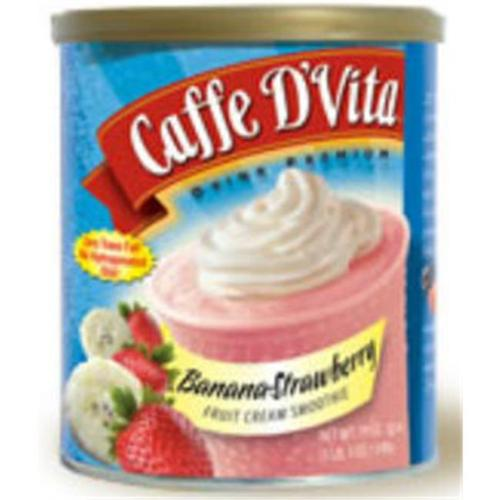 Caffe DVita F-DV-1C-06-BAST-SM Banana-Strawberry Fruit Cream Smoothie 6 1lb canisters