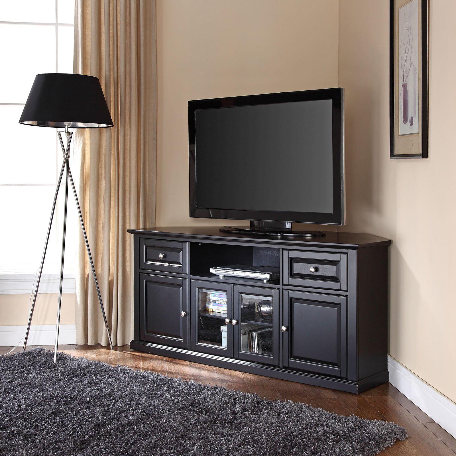 corner tv stand walmart Crosley Furniture Corner TV Stand for TVs up to 60