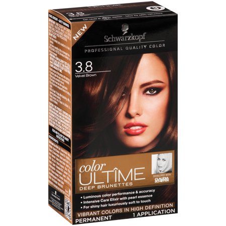 Schwarzkopf Color Ultime Deep Brunettes Hair Coloring Kit, 3.8 Velvet Brown  Walmart.com