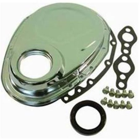 Racing Power R4934 Steel OEM Timing Chain Cover for Chevy Small Block, Chrome