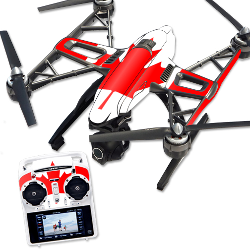 Skin Decal Wrap for Yuneec Q500 & Q500+ Quadcopter Drone Canadian Flag