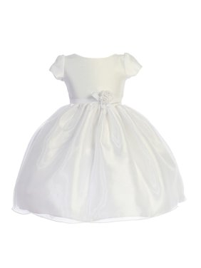 2307c0b212e6 Product Image Little Girls White Dupioni Organza Floral Bow Flower Girl  Dress 4