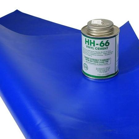 Tarp Repair Kit 2 X2 Blue Tarp Patch And Vinyl Cement