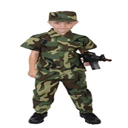 Rothco Kids Camouflage Soldier Costume - 7-9 Years](Soldiers Costumes)