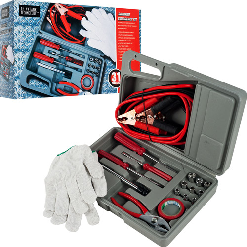 Roadside Emergency Tool and Auto Kit, 30pc
