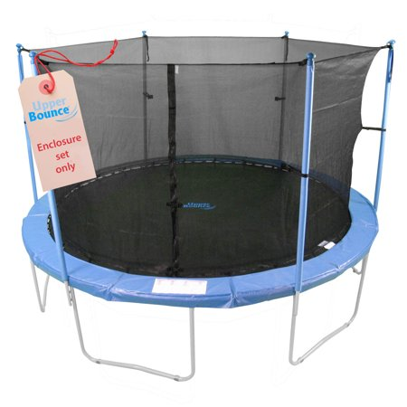 Trampoline Enclosure Set, to fit 8 FT. Round Frames, for 3 or 6 W-Shaped Legs -Set Includes: Net, Poles & Hardware Only - image 6 of 6