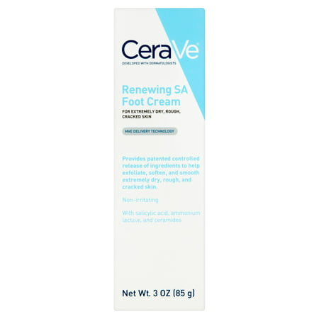 CeraVe Renewing SA Foot Cream, 3 oz