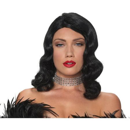 Black Femme Fatale Wig Adult Halloween Accessory](Halloween Maquillage Femme)
