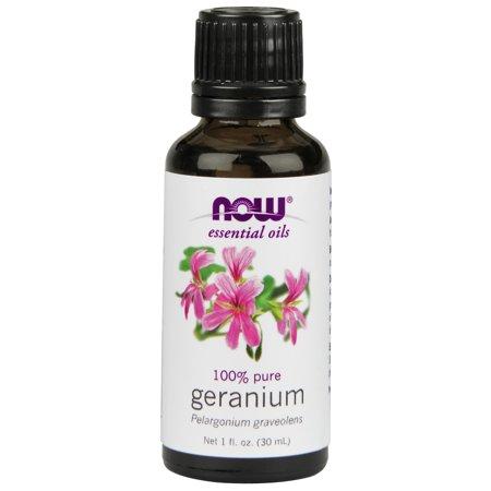 NOW Essential Oils, Geranium Oil, Soothing Aromatherapy Scent, Steam Distilled, 100% Pure, Vegan, (Benefits Of Geranium Essential Oil For Hair)