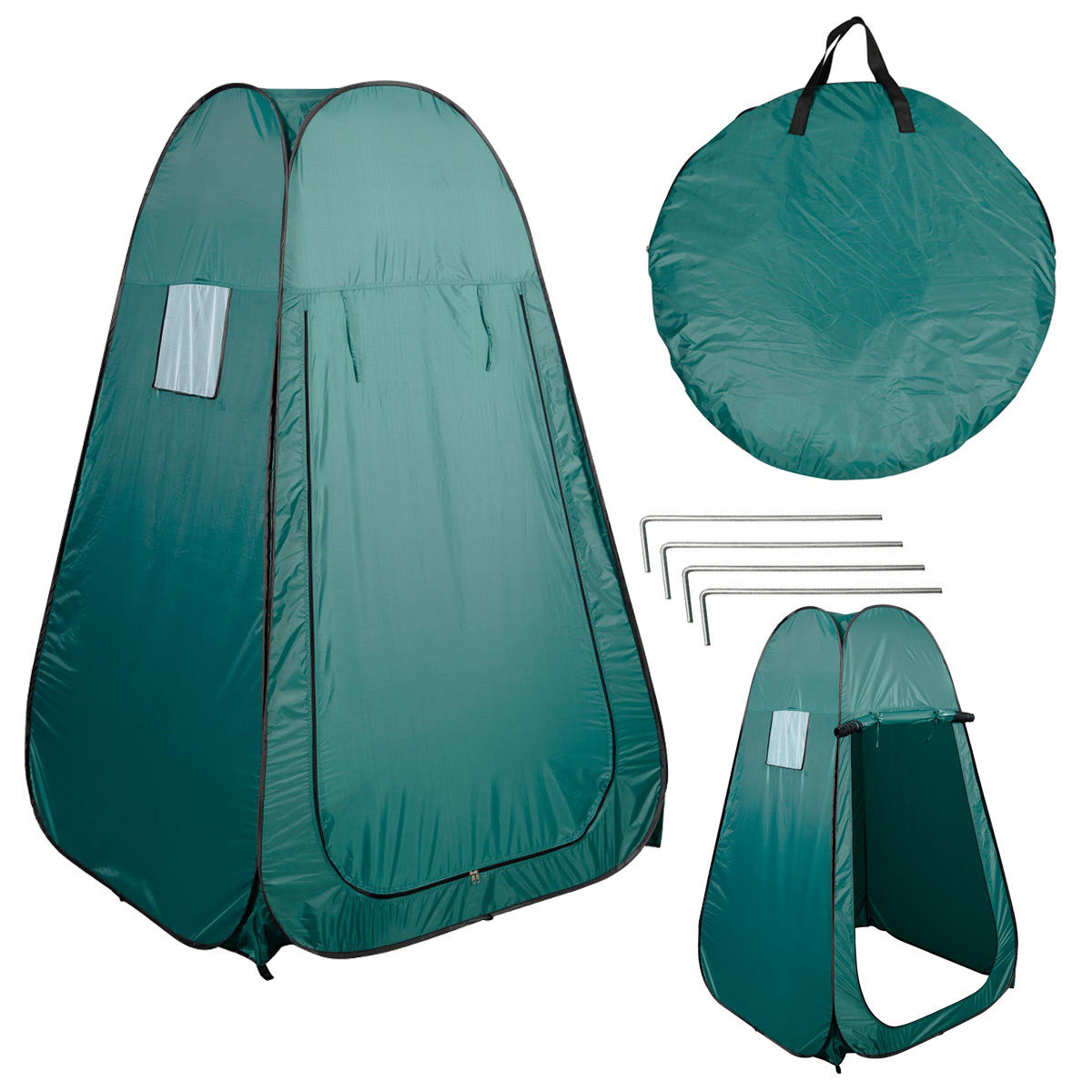 Costway Portable Pop UP Fishing u0026 Bathing Toilet Changing Tent C&ing Room Green  sc 1 st  Walmart & Pop-up Tents