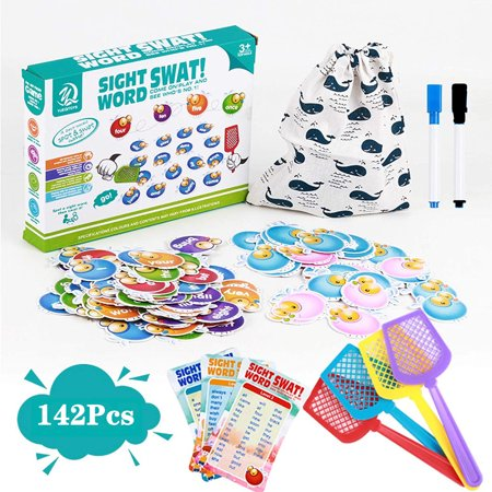 142Pcs, Learning Resources Sight Word Games for Home School, Visual, Tactile and Auditory Preschool Educational Toy, Phonics Games, Age 3-8 Year Old Kids thumbnail