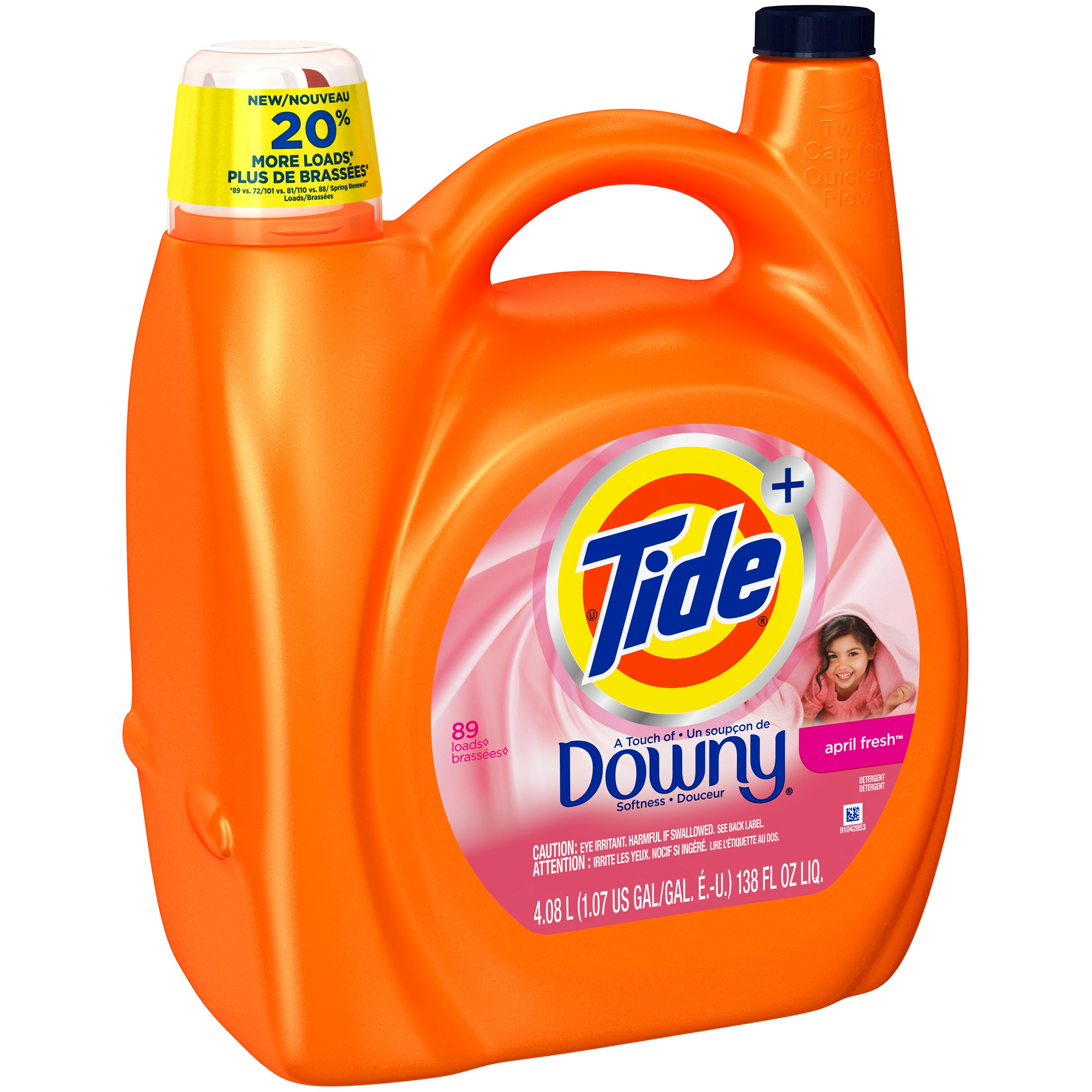 Tide Plus a Touch of Downy April Fresh Liquid Laundry Detergent 138 fl oz