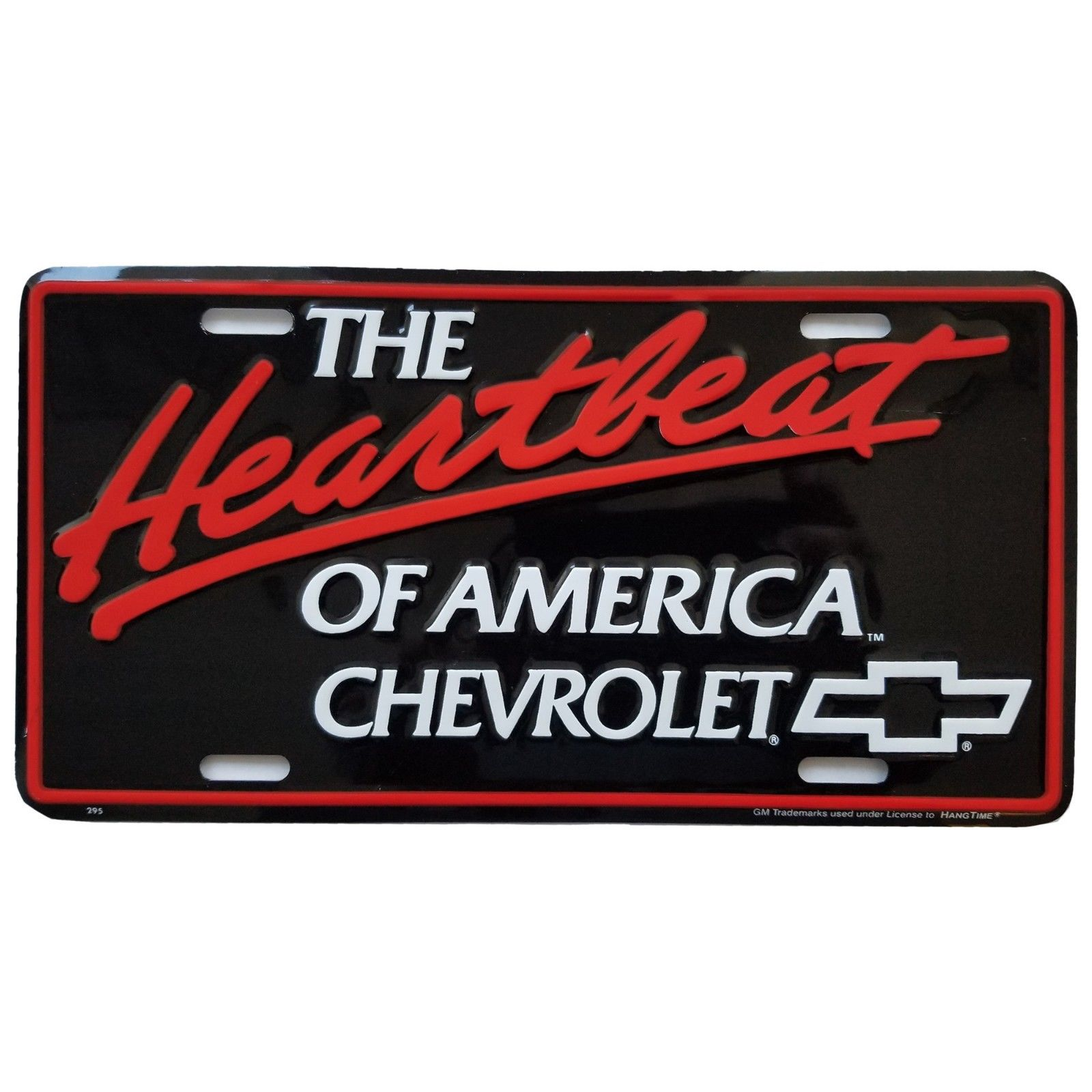 THE Heartbeat OF AMERICA CHEVY Chevrolet Bowtie Metal