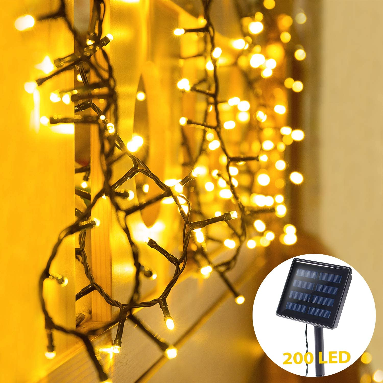 Oxyled Solar String Lights 72ft 200 Led 8 Modes Starry Christmas Fairy Lights Solar Powered Indoor Outdoor Lighting Waterproof Decoration Lights For Garden Patio Home Wedding Party 72ft 200 Walmart Canada