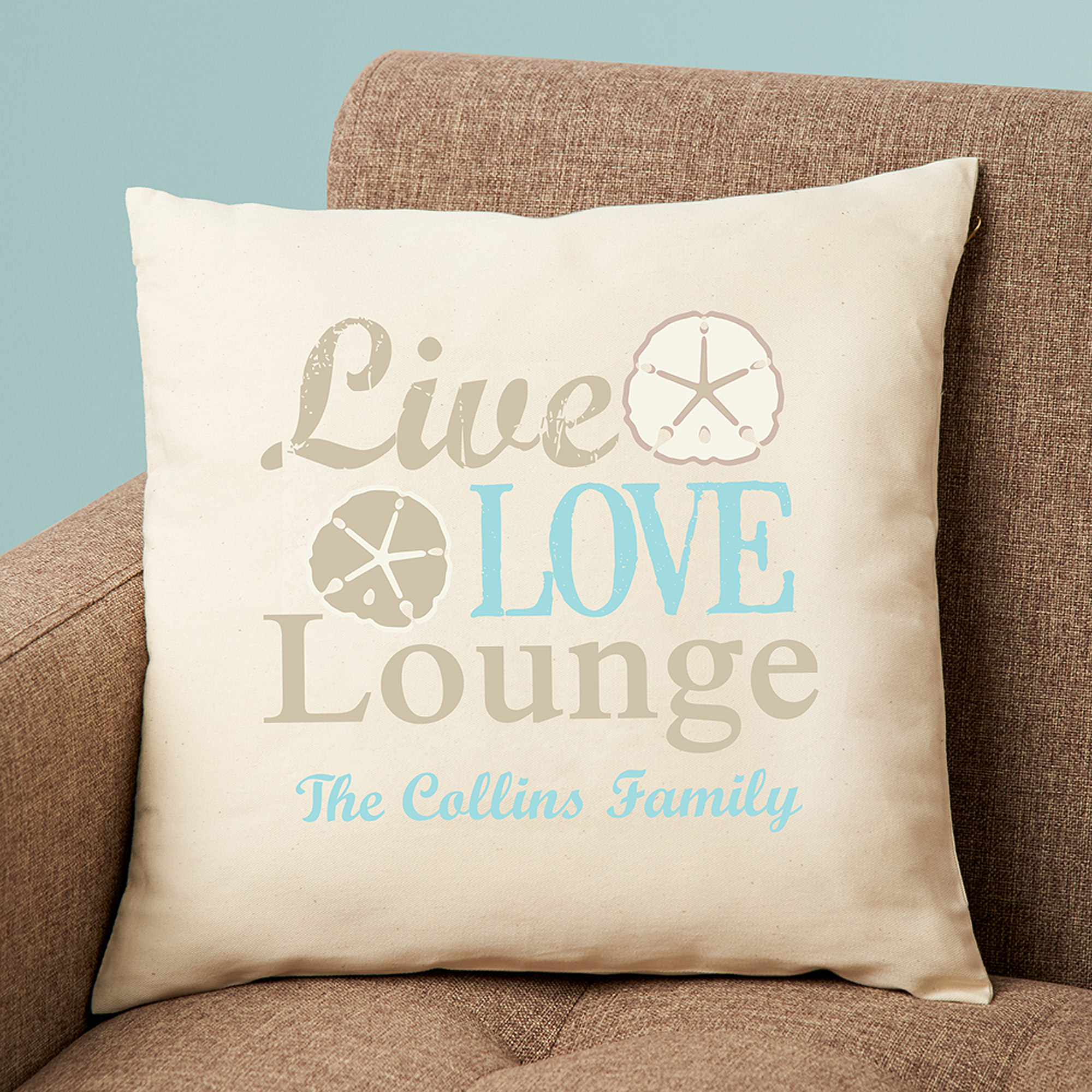 Personalized Live Love Lounge Pillow