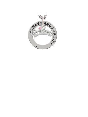 3e98b081d Product Image Princess with Pink Crystal Always and Forever Affirmation  Ring Necklace. Delight Jewelry