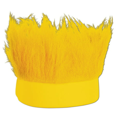 Club Pack of 12 Yellow Decorative Party Hairy Headband Costume Accessory