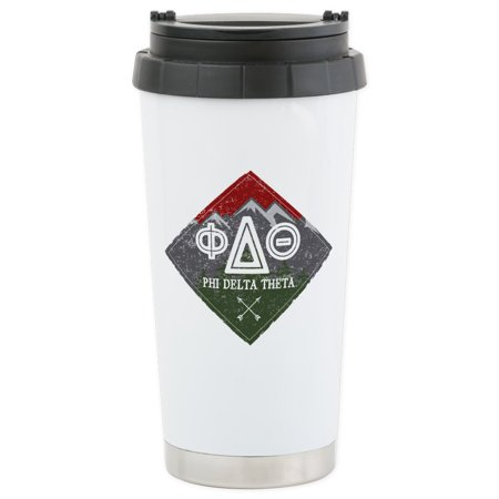 CafePress - Phi Delta Theta D - Stainless Steel Travel Mug, Insulated 16 oz. Coffee Tumbler