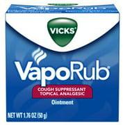 Vicks VapoRub Cough Suppressant Chest Rub Ointment, 1.76 oz
