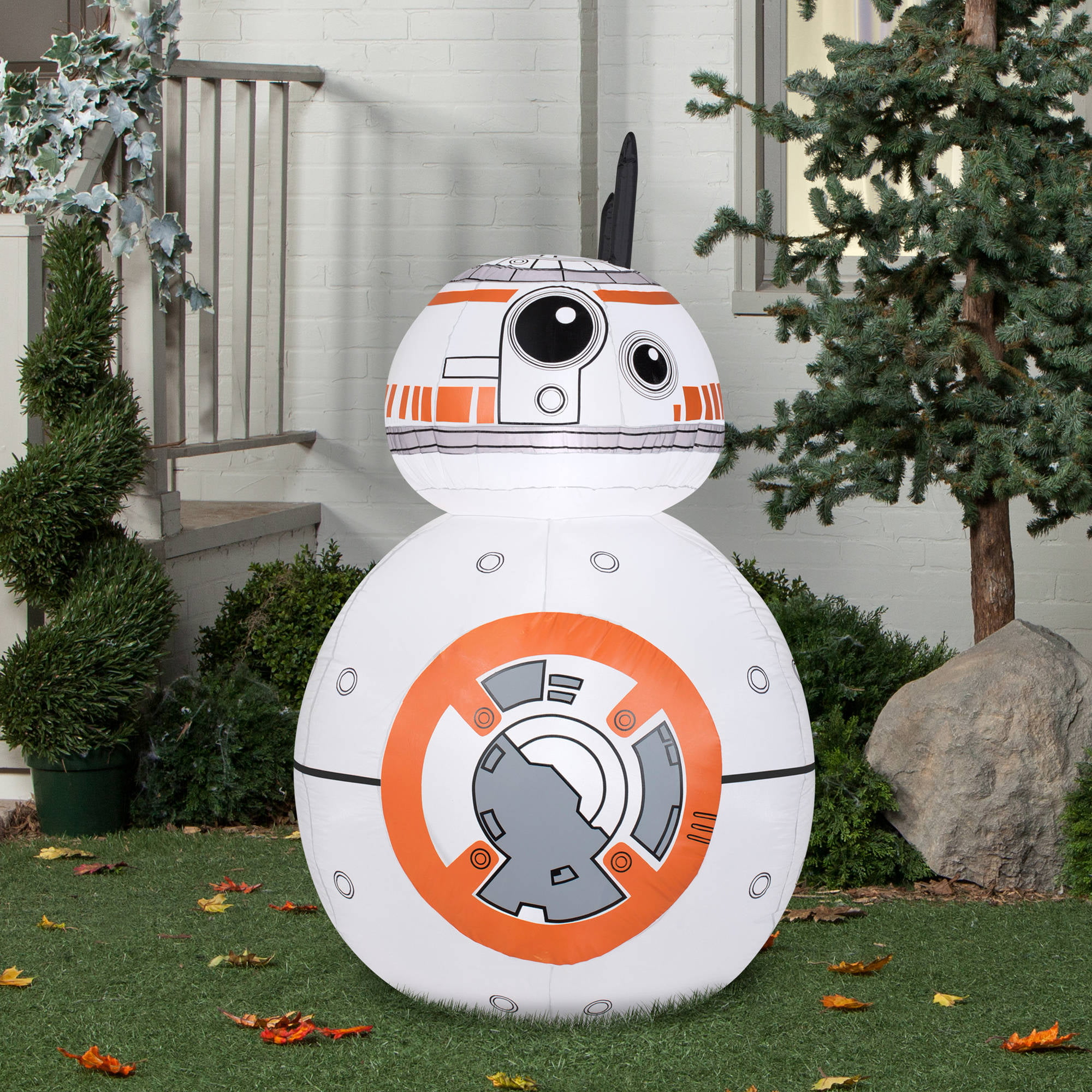 gemmy airblown inflatables christmas inflatable bb 8 45 walmartcom - Star Wars Inflatable Christmas Decorations