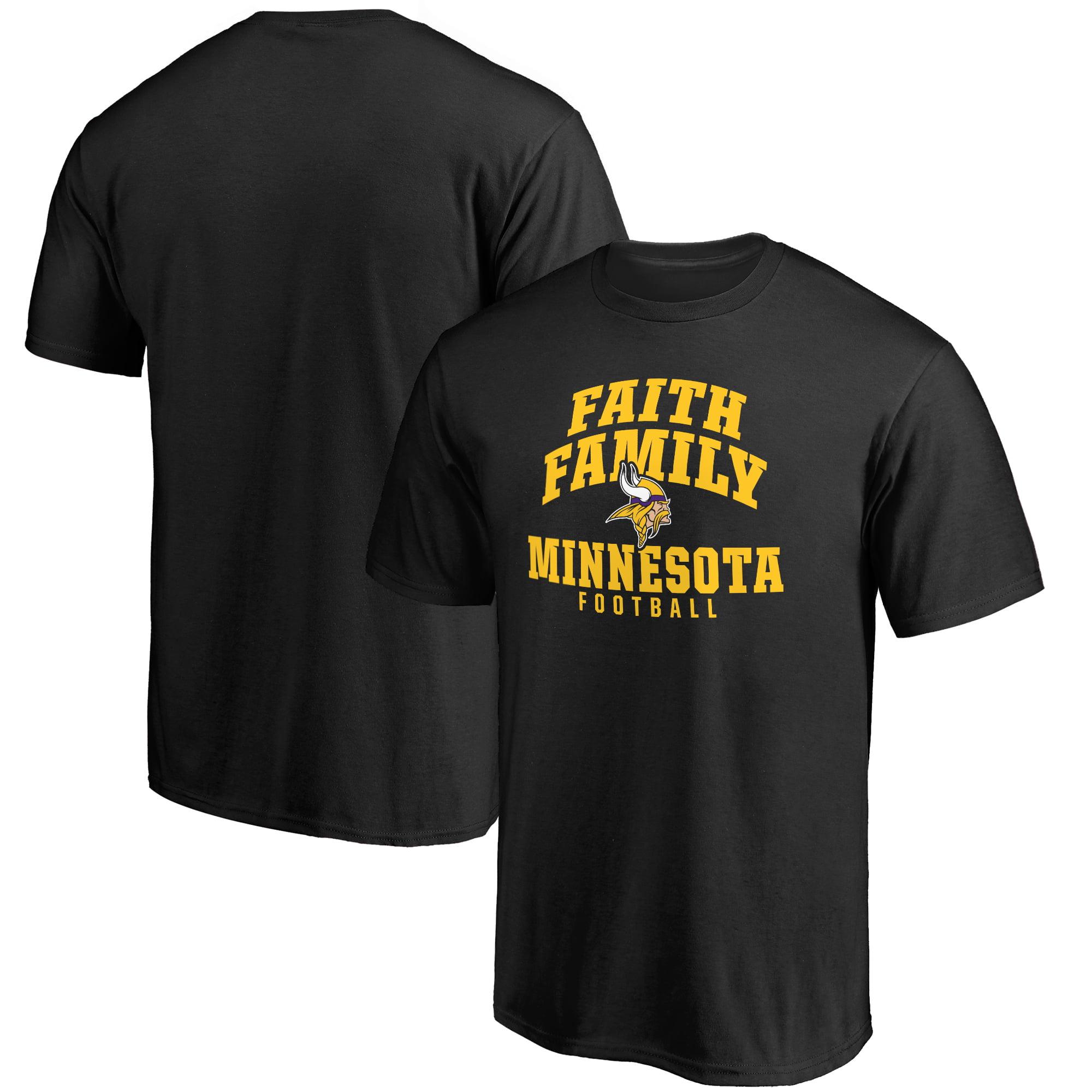 Minnesota Vikings NFL Pro Line Faith Family T-Shirt - Black